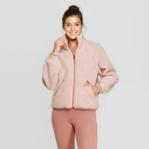 Women's Sherpa Full Zip Jacket - JoyLab™ - image 1 of 2