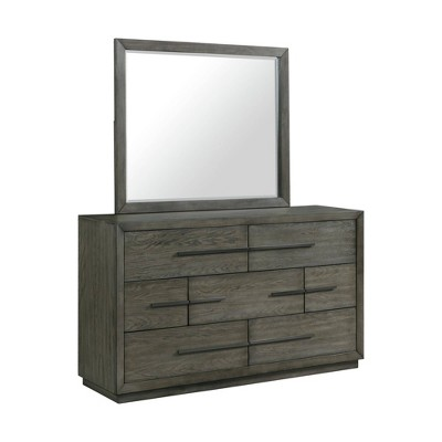 Hollis 7 Drawer Dresser and Mirror Set Gray - Picket House Furnishings