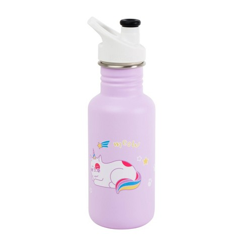 Klean Kanteen 18oz Stainless Kids Rainbow Cat Bottle - Lilac - image 1 of 2