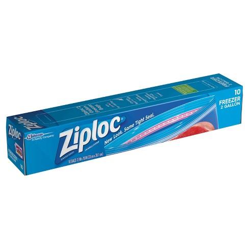 Ziploc 2 Gallon Freezer Bags 10ct Target