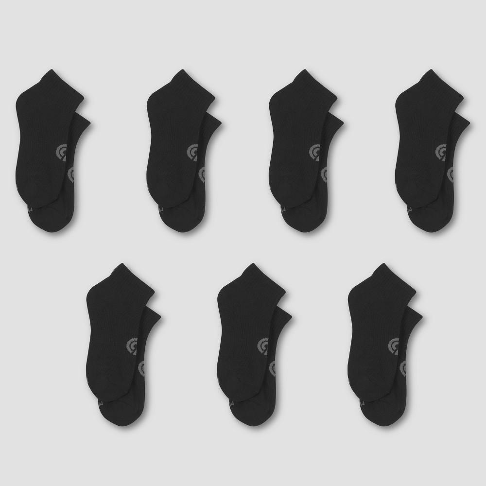 Boys' 6+1 Bonus Pack Ankle Socks - C9 Champion Black L, Multicolored