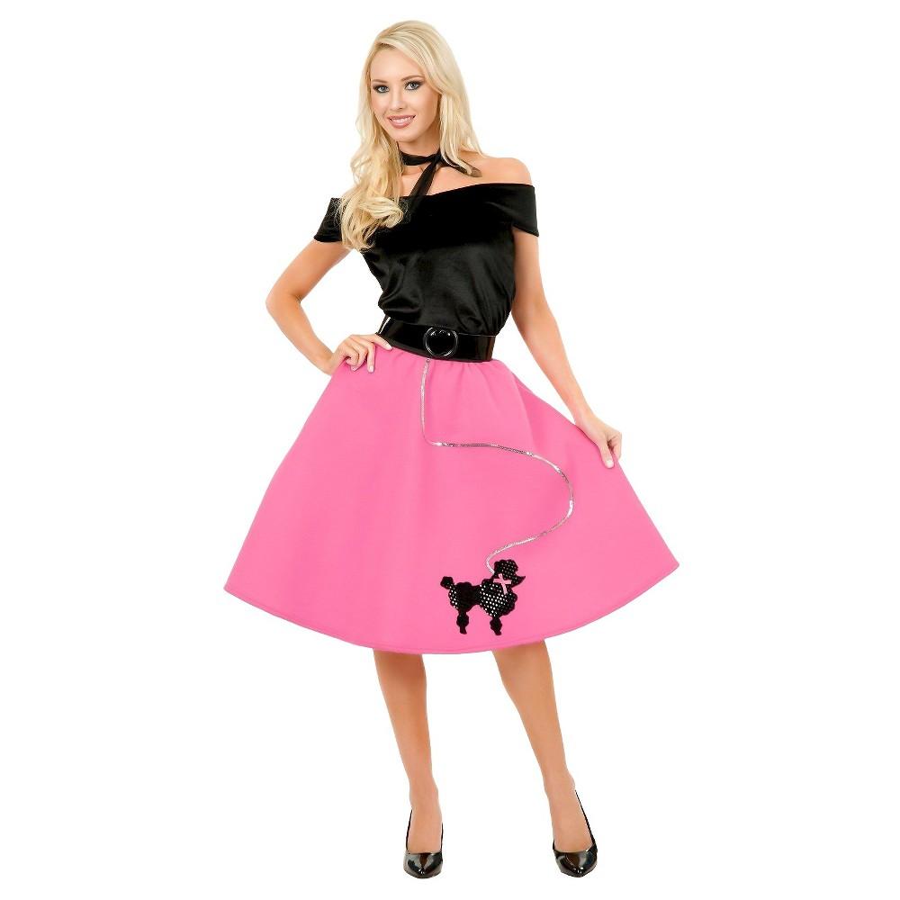 Adult Poodle Skirt Costume Plus Size, Women's, Size: Xxxl, Pink