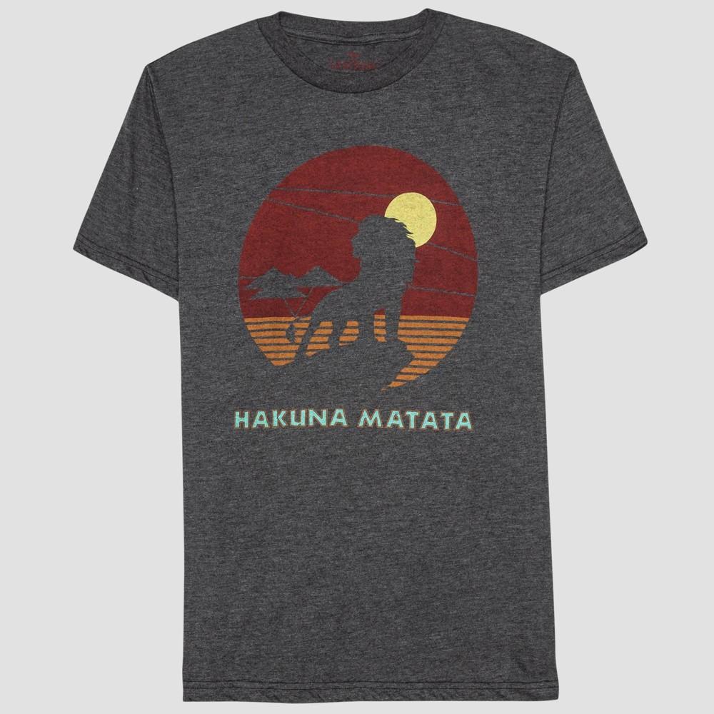 Men The Lion King Hakuna Matata un et hort leeve Graphic T hirt Charcoal Heather