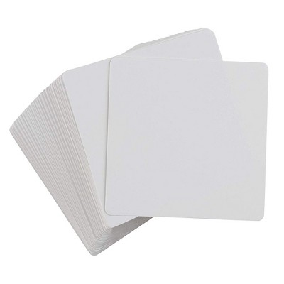 """Blank Playing Cards - 400-Piece Dry Erase Cards, Reusable Flash Cards, Whiteboard Cards, for DIY Game Card, Student, School, Square Size, 3.1"""" x 3.1"""""""