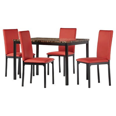 5pc Devoe Faux Marble Dining Set - Inspire Q