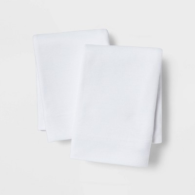 Standard Solid Cosy Jersey Pillowcase Set White - Threshold™