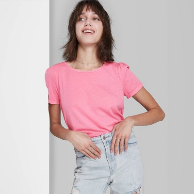 Women's Puff Short Sleeve T-Shirt - Wild Fable™