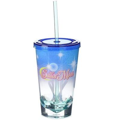 Just Funky Sailor Moon Uranus & Neptune Acrylic Diamond Bottom 16oz Carnival Cup