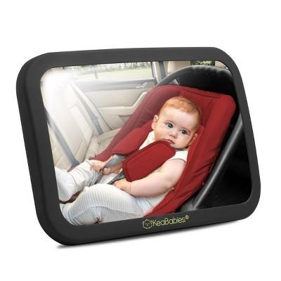 KeaBabies Large Shatterproof Baby Car Mirror
