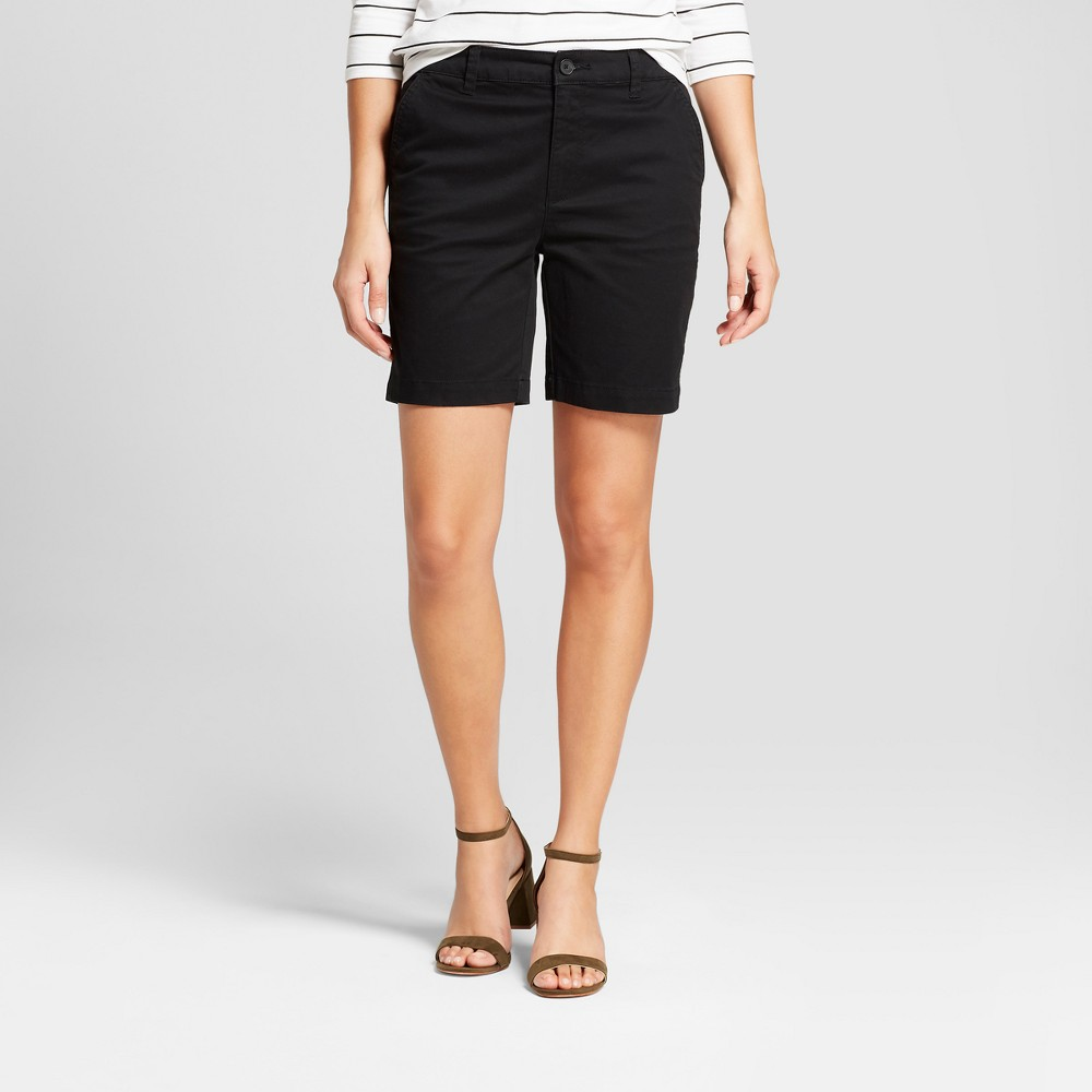 Women's 9 Chino Shorts - A New Day Black 10