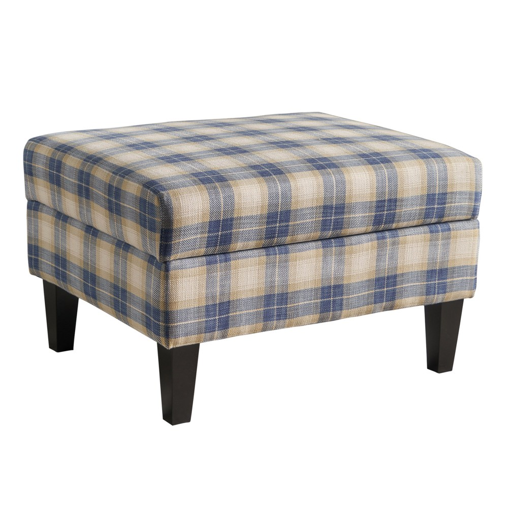 Daisha Storage Ottoman - Blue Plaid - Christopher Knight Home This classic Christopher Knight Home Daisha Storage Ottoman is a great addition to any home. Featuring extra cushioning on top with storage of all of life's everyday niceties, this ottoman is must have addition for any family. Store the family board games, or your seasonal blankets, or even some extra pillows. Or, for a more practical use of the storage functionality, you can put your extra books, magazines, game controllers, and TV remotes into this ottoman, making them easy to access at a moment's notice, but still out of the way. Color: Blue. Gender: Unisex. Age Group: Adult. Pattern: Plaid.