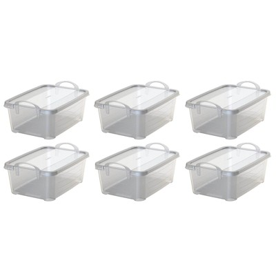 Life Story Clear Closet Organization Storage Box Container, 14 Quart (6 Pack)
