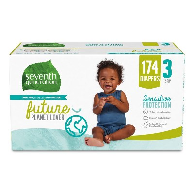 Seventh Generation XXL pk Disposable Diapers - 174ct