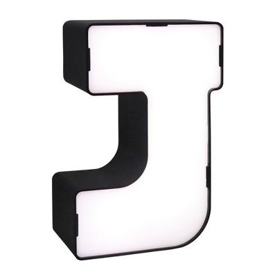 LED Neon Letter - J Novelty Table Lamp Brass - Room Essentials™