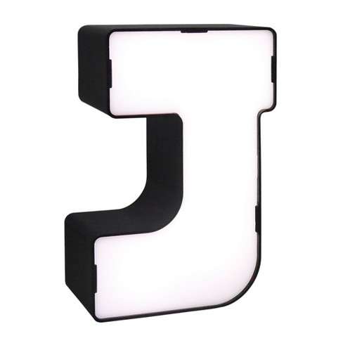 LED Neon Letter - J Novelty Table Lamp Brass - Room Essentials™ - image 1 of 1