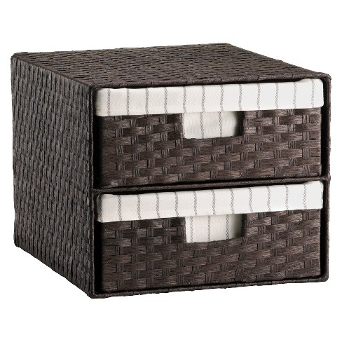 Woven 2-Drawer Decorative Organizer - Threshold™ - image 1 of 1