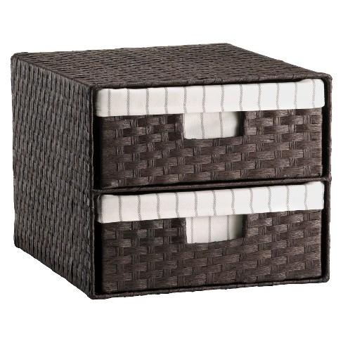 Woven 2-Drawer Decorative Organizer - Threshold™ - image 1 of 1