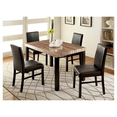 Bon IoHomes 5pc Colorful Faux Marble Top Dining Table Set Wood/Black : Target