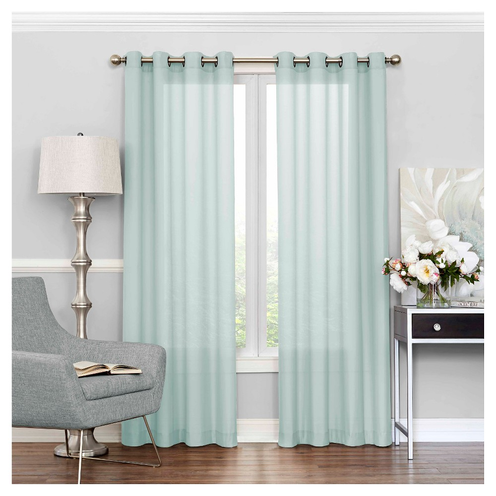 63 34 X52 34 Liberty Window Sheer Curtain Blue Eclipse
