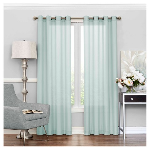 Liberty Light Filtering Sheer Curtain - Eclipse - image 1 of 3