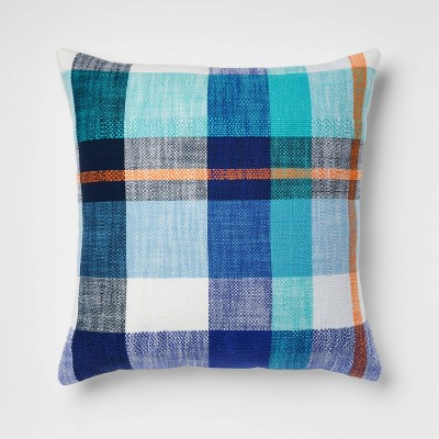 Textured Woven Plaid Square Throw Pillow - Opalhouse™