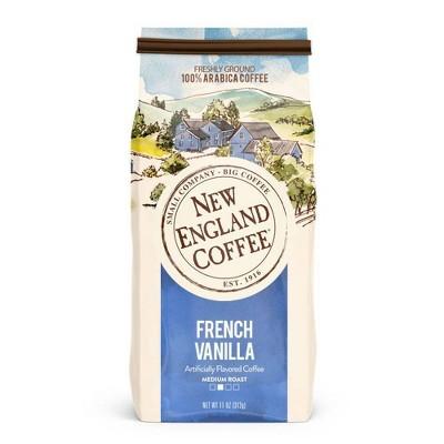 New England French Vanilla Medium Roast Coffee Ground Coffee - 11oz