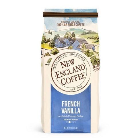 New England French Vanilla Medium Roast Coffee Ground Coffee - 11oz - image 1 of 4