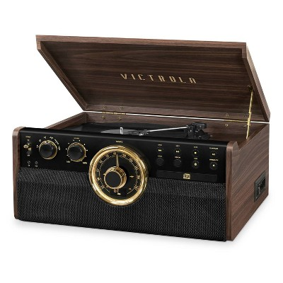 Victrola Empire Mid Century Modern Bluetooth Record Player - Espresso