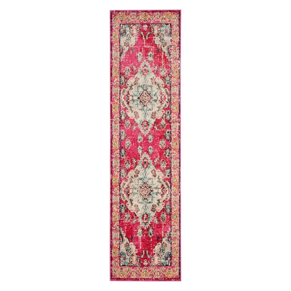 2'2X16' Medallion Runner Pink - Safavieh, Pink/Multi-Colored