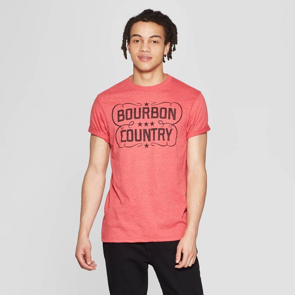Men's Short Sleeve Crewneck Bourbon Country Graphic T-Shirt - Awake Red L