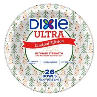 Dixie Ultra Soak Proof Holiday Bowls- 26ct