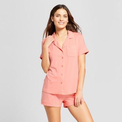 Women's 2pc Pajama Set - Gilligan & O'Malley™ Pom Pom Pink S