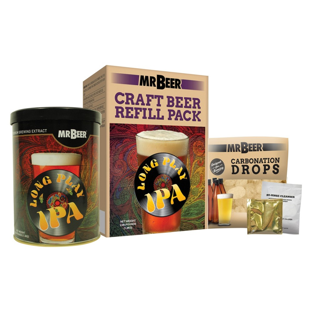Image of Mr. Beer Long Play Ipa Craft Beer Making Refill Kit, Brown