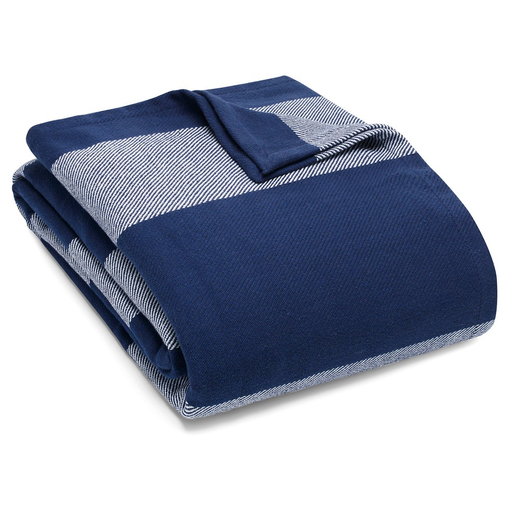 Image of Boylston Stripe Blanket (Full/Queen) Blue - Eddie Bauer