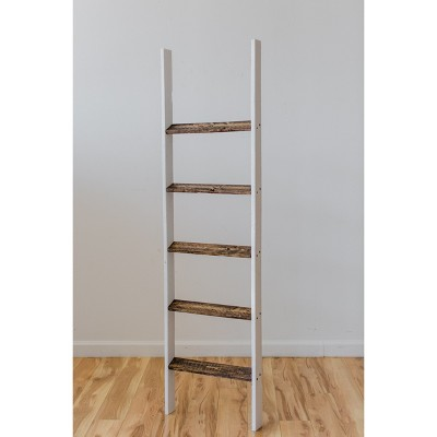 Decorative Ladder - White / Brown - Lana & Laura