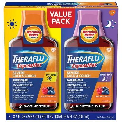Theraflu ExpressMax Severe Cold & Cough Day/Night Relief Liquid - 8.3 fl oz/2ct
