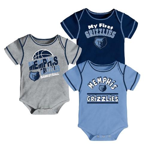 lowest price 859ad 4218b Memphis Grizzlies Boys' Rookie 3pk Body Suit Set 3-6M
