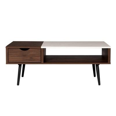 Tapered Leg Mid Century Modern Storage Coffee Table - Saracina Home