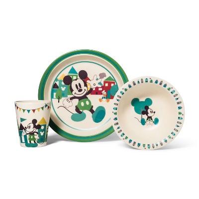 Disney Mickey Mouse 3pc Bamboo Dinner Set