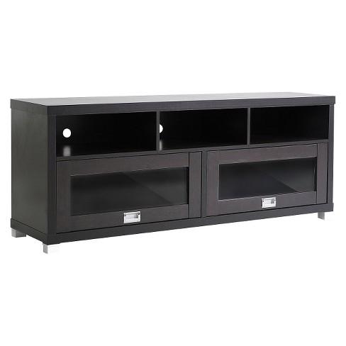 Modern Tv Stand Dark Brown 58 Wholesale Interiors Target