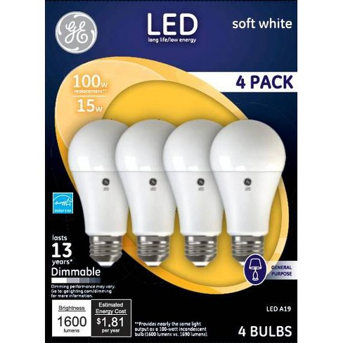 General Electric 100W 4pk SW Aline LED Bulb - image 1 of 1