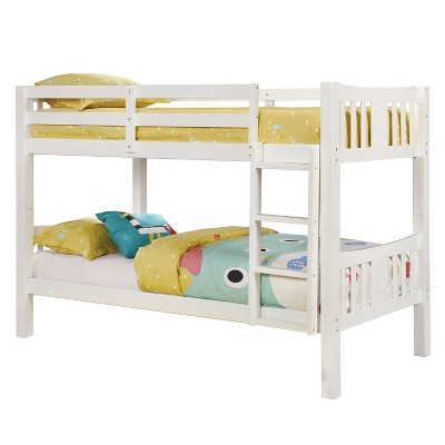 Twin Over Twin Kids' Clare Bunk Bed White - ioHOMES