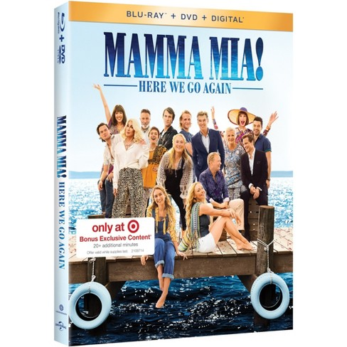 Mamma Mia Here We Go Again Movies Target Exclusive Blu Ray Dvd