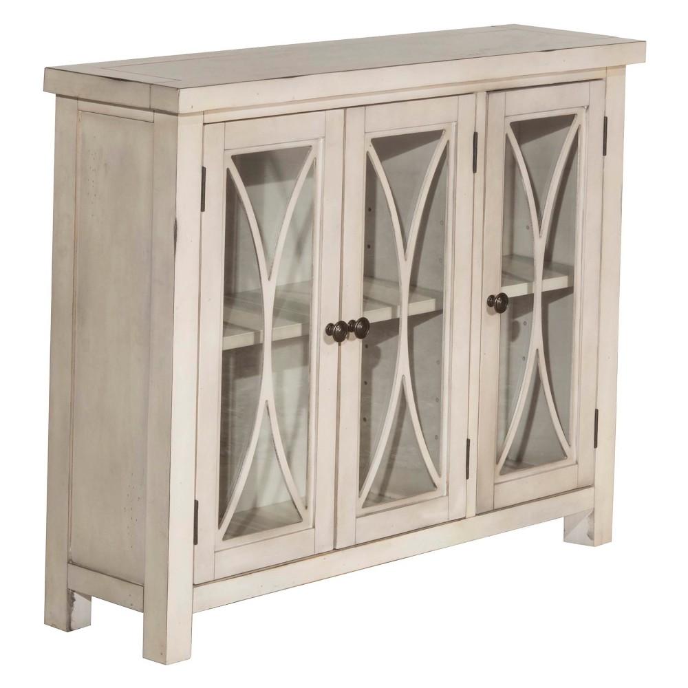 Bayside Three (3) Door Cabinet Antique White - Hillsdale Furniture