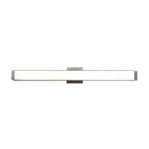 "Fjord 36""W LED Vanity Light - Brushed Steel - Opal Glass Shade - image 1 of 1"