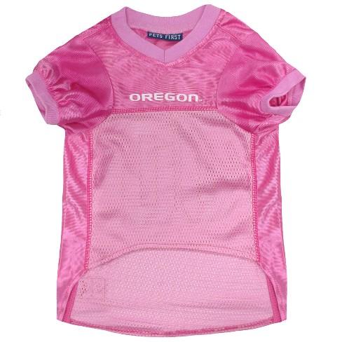 new styles 4b15b b5cc0 Pets First Oregon Ducks Pink Jersey - M