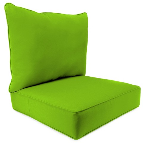 Outdoor Set Of 2PC Deep Seat Chair Cushion In Davinci Willow  - Jordan Manufacturing - image 1 of 1