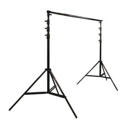 Photoflex Pro Duty BackDrop Support Kit, with One BackDrop Pole, Two 12.5' Black Lightstands & Carry Bag.
