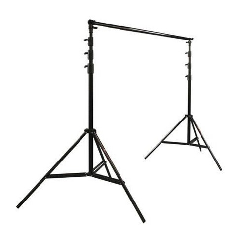 Photoflex Pro Duty BackDrop Support Kit, with One BackDrop Pole, Two 12.5' Black Lightstands & Carry Bag. - image 1 of 1