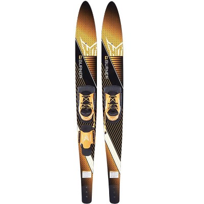 HO Skis Blast 67-Inch Waterskiing Combo Skis with Trainer Bar Bindings and Instructional Video, One Size, Yellow